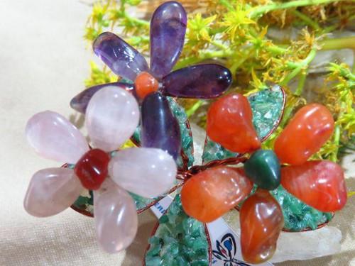 Gemstone Flower Cluster - Hand Made