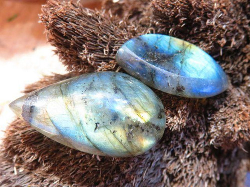 Small Polished Labradorite Cabochons  - Sold per piece