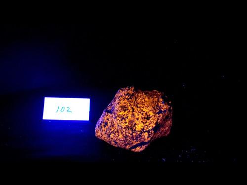 Nice Large Hackmanite Syenite Specimen, Canada -  Bright LW Fluorescent