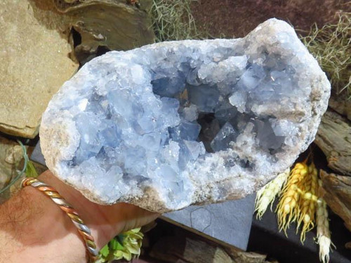 Natural Exceptional A Grade Large Celestite Geode