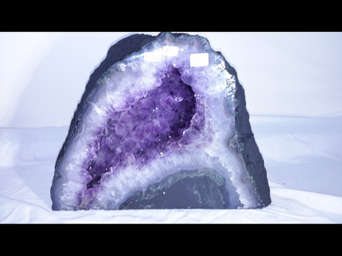 """Amethyst Church Crystal Cathedral Geode - Nice Mini Cave -  8"""" Tall"""
