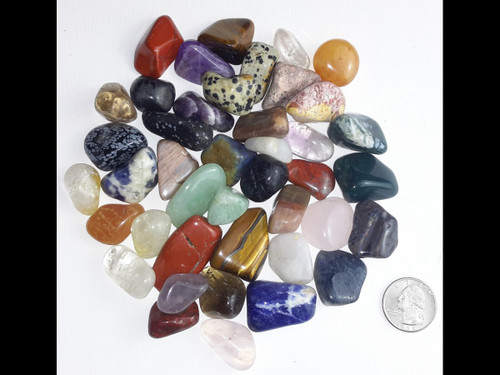 Natural Tumbled Stone Super Mix! 21 Kinds - 42 Stones