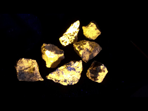 A Grade Wernerite Specimen - Grenville, Quebec - Bright Yellow LW Fluorescent - GRAB BAG