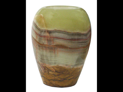 Banded Onyx Tealite Candle Holder - 3""