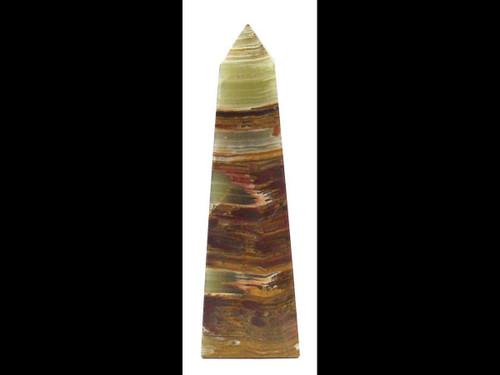 """Banded Onyx Polished Obelisk - 6"""""""