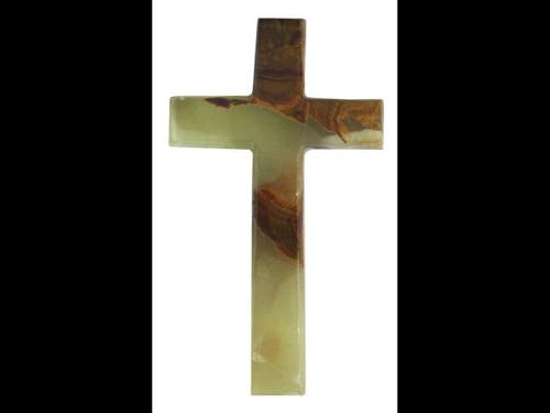"Banded Onyx Polished Cross -5"""