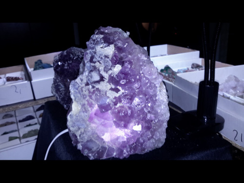 Amethyst Cluster Mountain Lamps - Rough Brazilian Amethyst