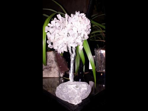 Hand Made Gemstone Tree - Made From Polished Tumbles - Medium  - Quartz