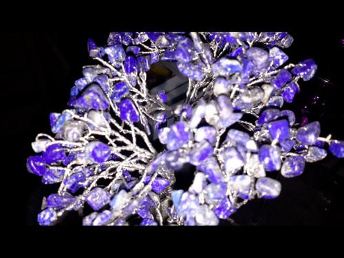 Hand Made Gemstone Tree - Made From Polished Tumbles - Medium  - Lapis Lazuli