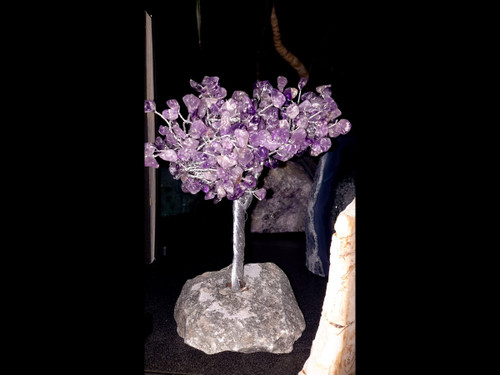Hand Made Gemstone Tree - Made From Polished Tumbles - Medium  - Amethyst
