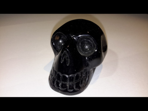 Polished Smokey Quartz Crystal Skull - Medium