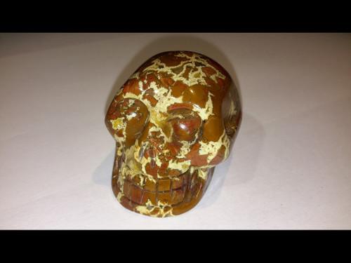 Polished Brecciated Jasper Skull - Medium
