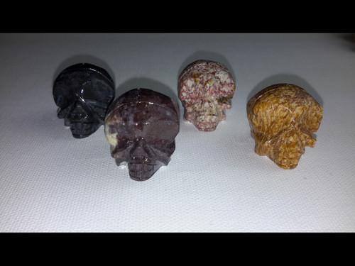Polished Soap Stone Skull - 30 mm