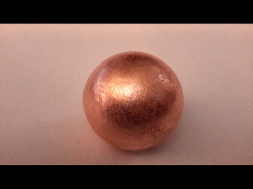 """1 1/8"""" (28mm) Copper Sphere - Brushed Finish - Made from Michigan Native Copper"""