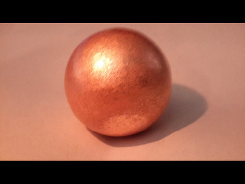 """1 1/2"""" (30 mm) Copper Sphere - Brushed Finish - Made from Michigan Native Copper"""