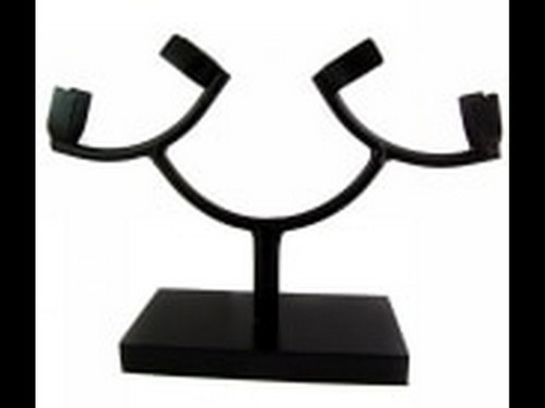 Wrought Iron Prong Holder Stand - Stand - Large