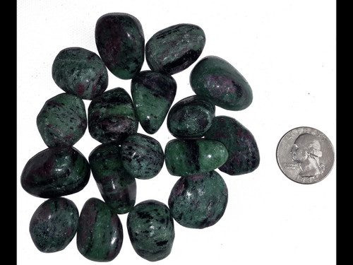 Ruby Zoisite Tumbled Stone - by the 1/2 pound