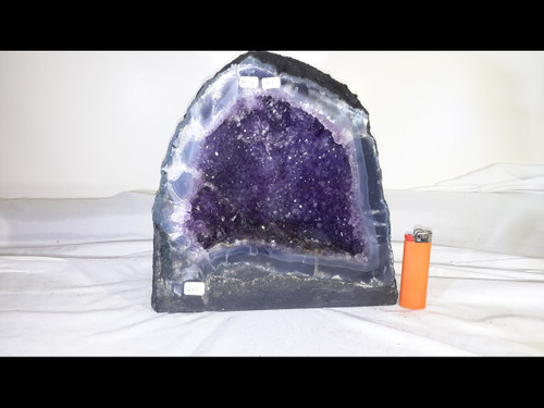 """Amethyst Church Crystal Cathedral Geode - Nice Cave - Almost 10"""""""