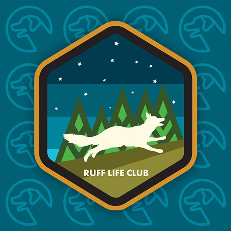 "Ruff Life ""Night Life"" Sticker"