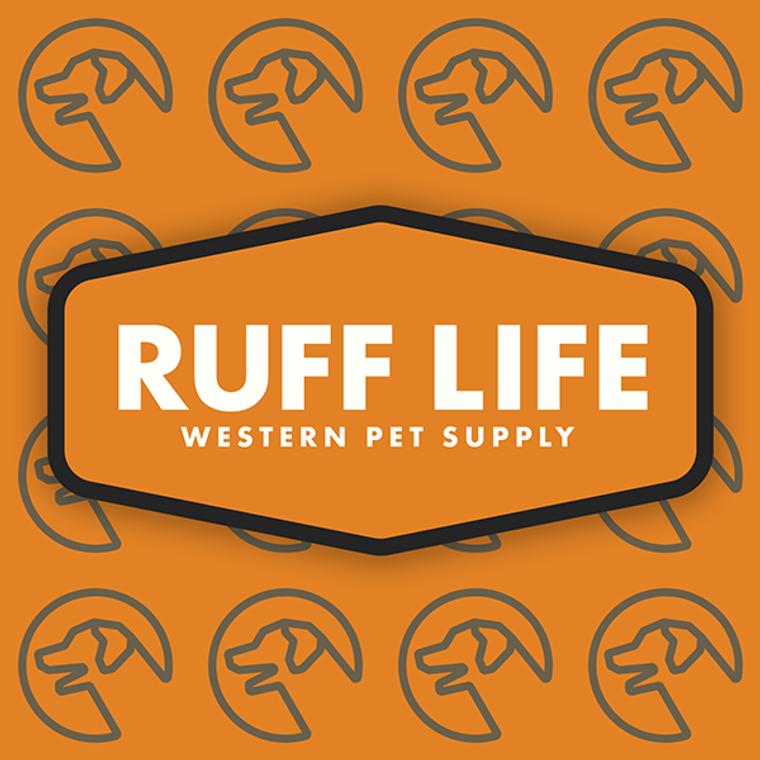 "Ruff Life ""Officially Orange"" Sticker"