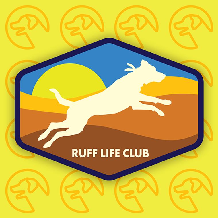 """Ruff Life """"Jump!"""" Sticker"""