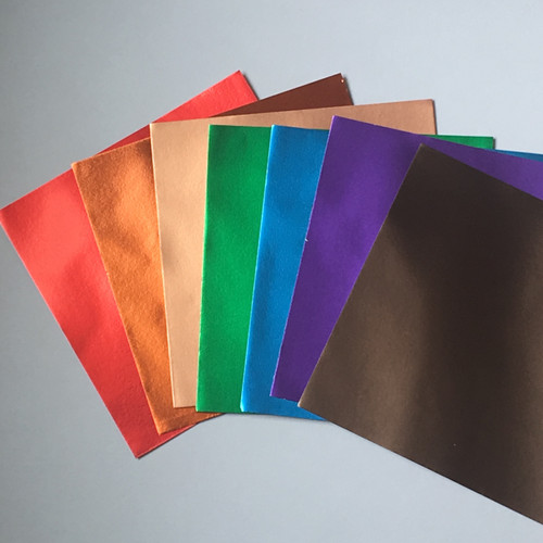 "7 Luxurious Colors of Metallic Paper with Gold on the back of every piece.  6"" x 6"""