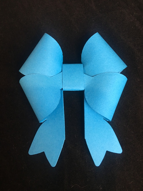 The Double Bow die makes a beautiful 3D bow.
