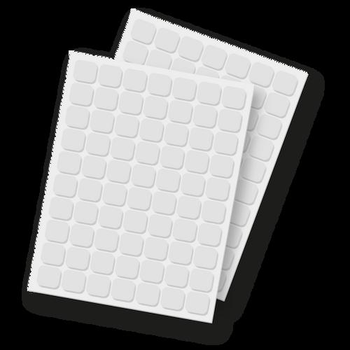 """Foam Squares - 1/2"""""""