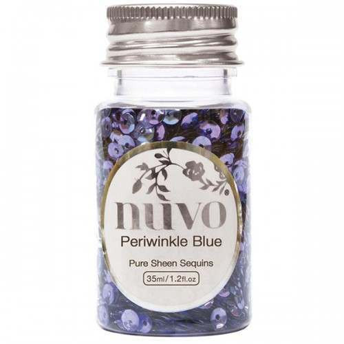 Nuvo Periwinkle Blue Sequins