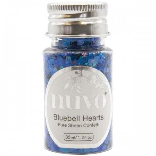 Nuvo Bluebell Heart Confetti