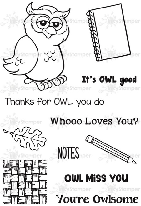 Owl Stamp Set by InkyStamper