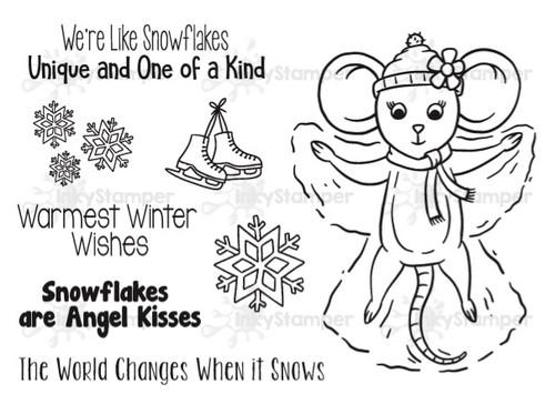 Snow Angel featuring Rosie by InkyStamper