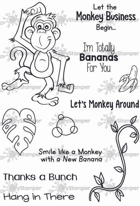 Monkey Stamp Set by InkyStamper