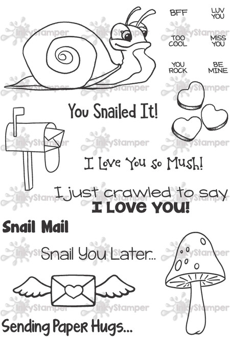 Snail Stamp Set by InkyStamper