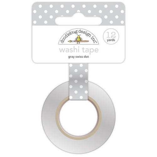 Grey Swiss Dot Washi by Doodlebug