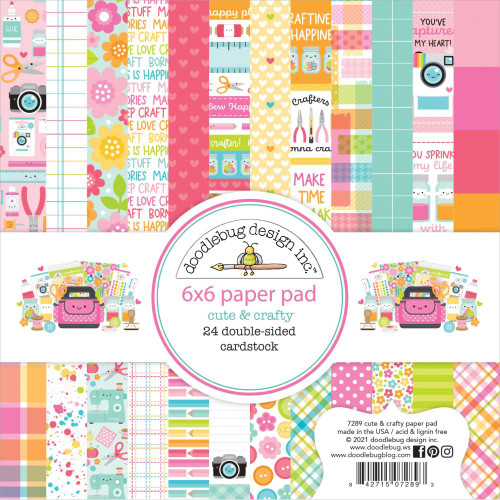Doodlebug Design - Cute & Crafty Collection - 6 x 6 Paper Pad