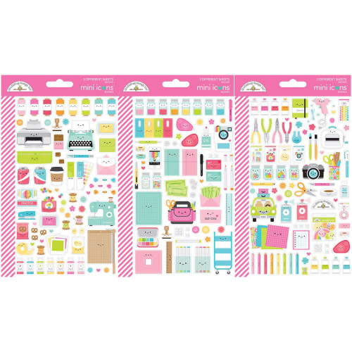 Doodlebug Cute and Crafty - Mini Icons Sticker sheets
