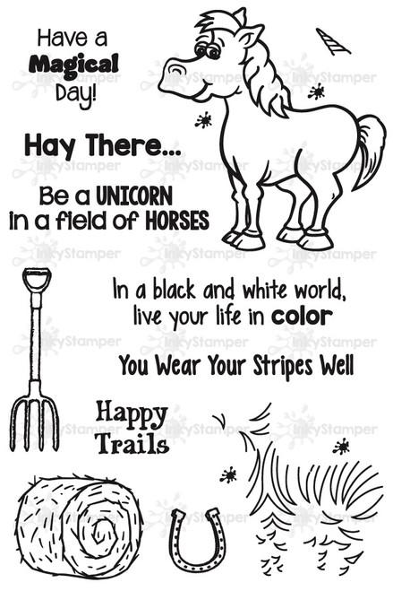 Horse Stamp Set by InkyStamper