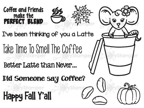 Latte Stamp Set by InkyStamper