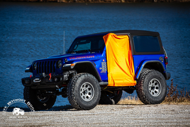 Buy two and save 16%! This product is made of 100% waterproof polyester ripstop material and designed to keep most of the interior of the vehicle dry in the event of a pop-up rain storm.