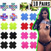 Womens Multi Shaped Adhesive No Show Disposable Breast Nipple Pasties