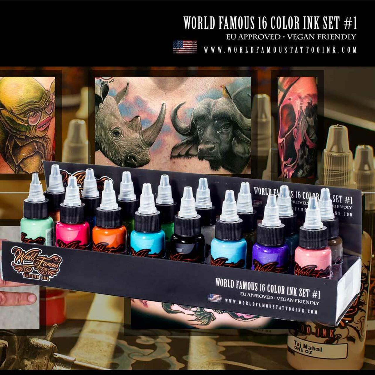WORLD FAMOUS 16 COLOR INK SET #1 - Electrum Supply