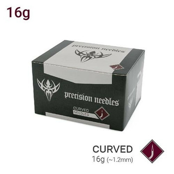 16g Curved Body Piercing Needles - Box of 50 Sterilized Precision Needles