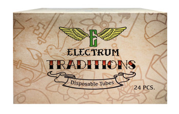"""Electrum Traditions Tube & Grip Sets - 1"""" Premium Disposable Grips - Box of 24 - Tattoo Grips - Disposable Tattoo Tubes"""