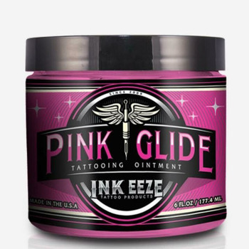 INK-EEZE Pink Glide Tattoo Ointment 6oz