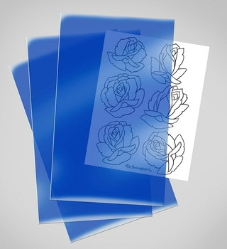 Blue Thermofax Carrier - Use With Oldschool Thermofax Machines - Blue Acetate Thermal Paper