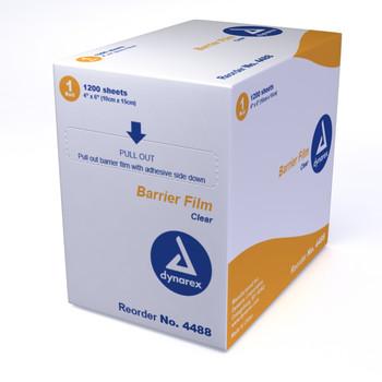 """Dental Barrier Film - 4"""" x 6"""", Clear"""