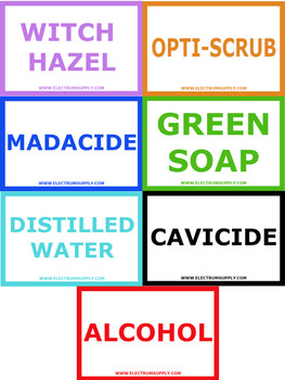 Bottle Labels - Wash Bottle Labels