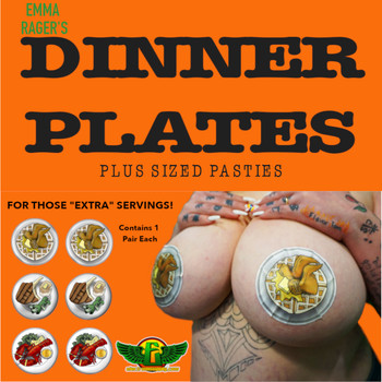 "Electrum ""Dinner Plates"" Pastie Pack XL BUY MORE AND SAVE"
