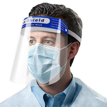 Clear Face Mask Shield for Medical Use – Disposable – FDA Certified - 10 PACK